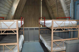 Upstairs view with 2 bunk beds